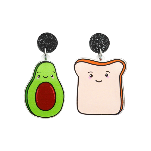 'Avocado & Toast' Food Dangle Earring