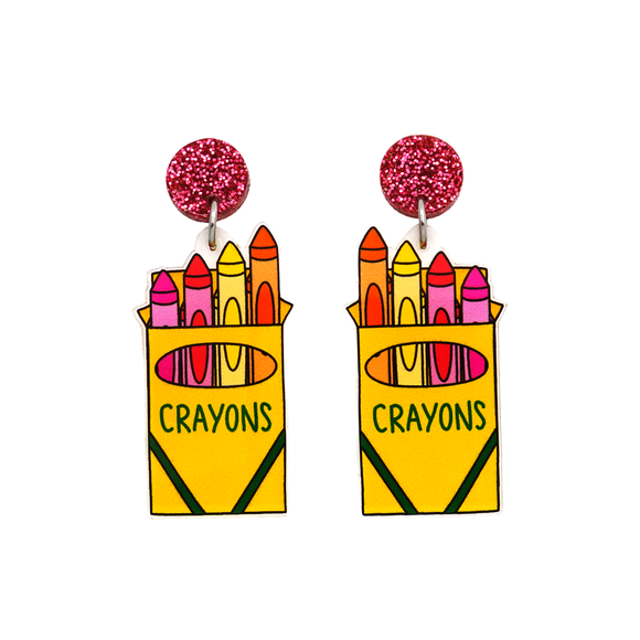 Crayon Dangle Earring - Timber & Cotton