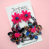 Floral Stack Dangles- 5 Colours Available