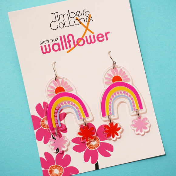 Rainbows in Spring Dangles- Collaboration with She's That Wallflower