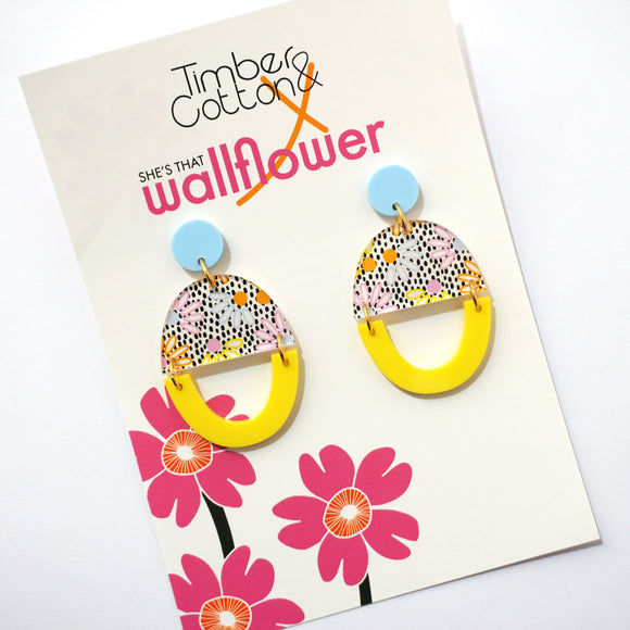 Pretty Petal Dangles- Collaboration with She's That Wallflower
