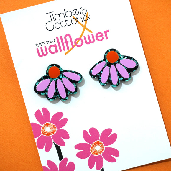 Pretty Petal Statement Studs - Collaboration with She's That Wallflower