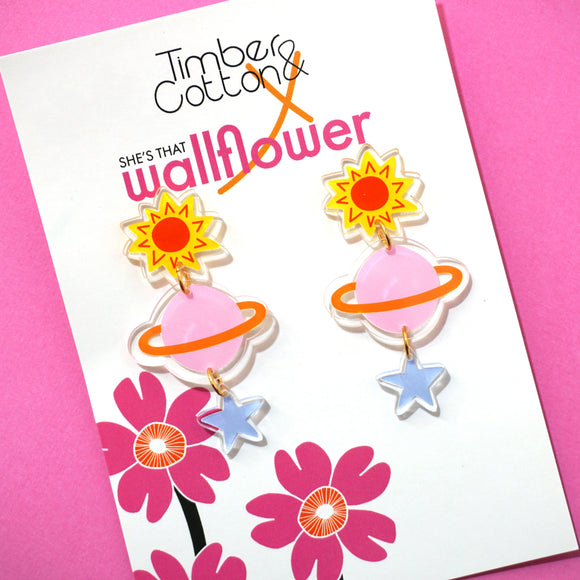 Written in the Stars Dangles- Collaboration with She's That Wallflower