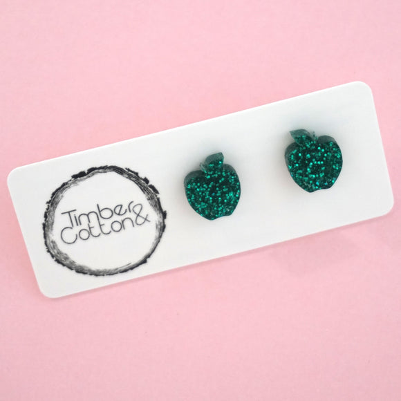 Apple- Emerald Green Glitter