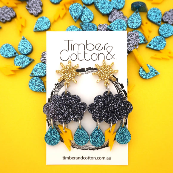 Thunder Storm Dangles- Timber & Cotton