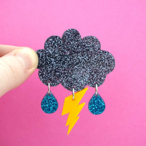 Storm Cloud Hair Clip- Timber & Cotton