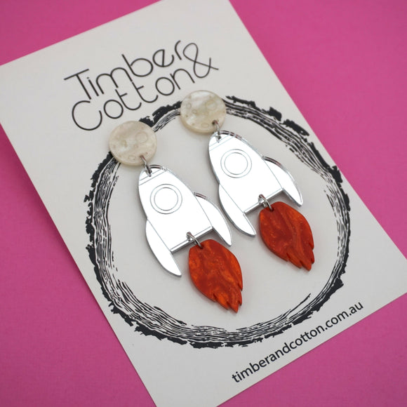 Rocket Blast Off Dangles- Timber & Cotton