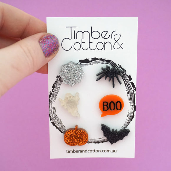 Mismatch Spooky Halloween Stud Pack- Timber & Cotton