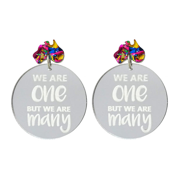 Harmony Day 'We Are One But We Are Many' Dangle Earrings - Timber & Cotton