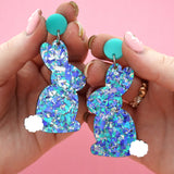 Easter Bunny 'Ocean Flake' Dangle Earrings - Timber & Cotton