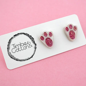 Bunny Feet Stud Earrings - Timber & Cotton