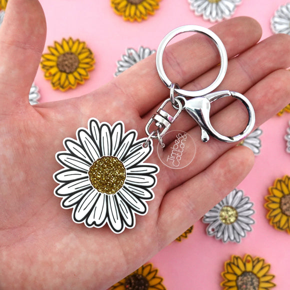 Daisy Keyring - Timber & Cotton