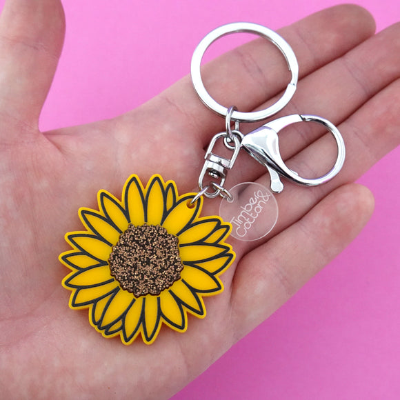 Sunflower Keyring - Timber & Cotton