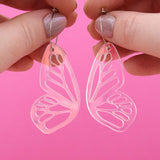 Butterfly Hoop Earrings 'Resin Colour 5' - Timber & Cotton