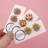 Flower 'Gold Fine Glitter' Stud Earrings - Timber & Cotton