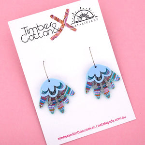 Ocean Dreaming Blooming Delight Hoop Dangle Earring 'Colour 2' - Timber & Cotton + Natalie Jade