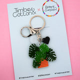 Monstera Pot Plant Keyring - Timber & Cotton + Brook Gossen