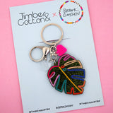 Rainbow Monstera Leaf Keyring - Timber & Cotton + Brook Gossen