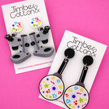 Microbiology Microscope Science Dangle Earrings- Timber & Cotton