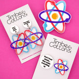 'Don't Trust Atoms' Science Dangle Earrings- Timber & Cotton