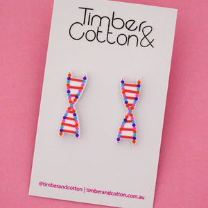 DNA Science Statement Stud Earrings- Timber & Cotton