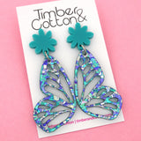 Ocean Flake Butterfly Dangle Earring- Timber & Cotton
