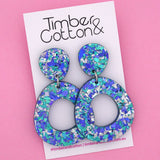 Mia 'Ocean Flake' Dangle Earring- Timber & Cotton