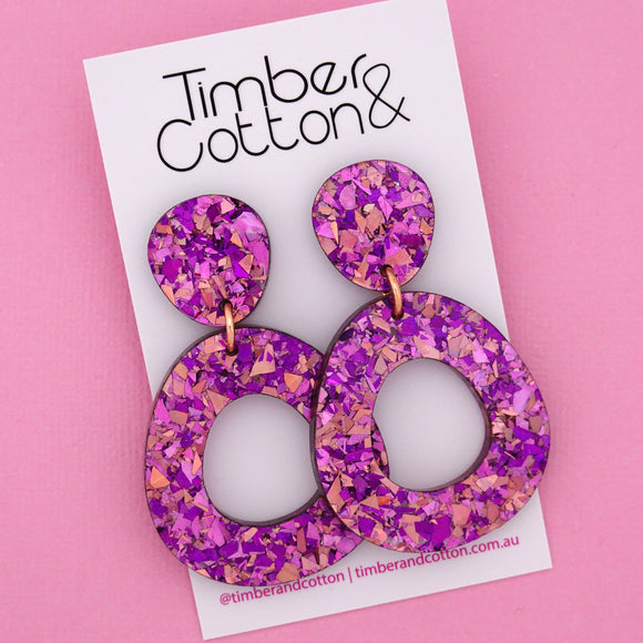 Mia 'Unicorn Flake' Dangle Earring- Timber & Cotton