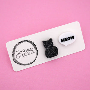 Cat & Meow Bubble Stud Earrings - Timber & Cotton