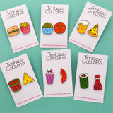 'Milkshake & Hot Dog' Food Statement Stud Earring