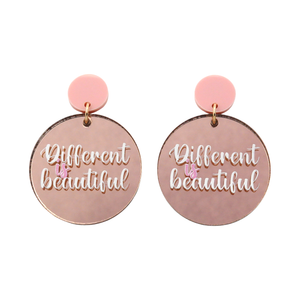'Different is Beautiful' Dangle Earrings