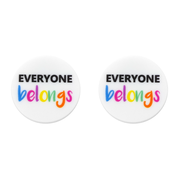 Harmony Day 'Everyone Belongs' Statement Stud Earring