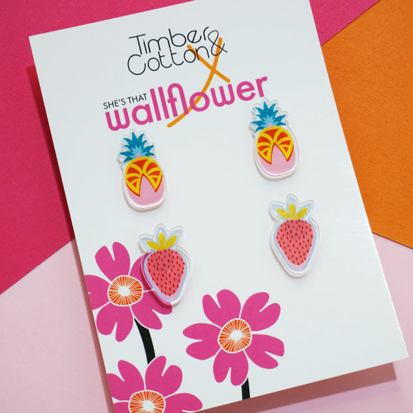 Feeling Fruity Studs- Collaboration with She's That Wallflower