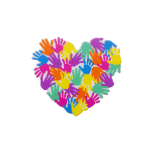 Harmony Day 'Heart of Hands' Brooch