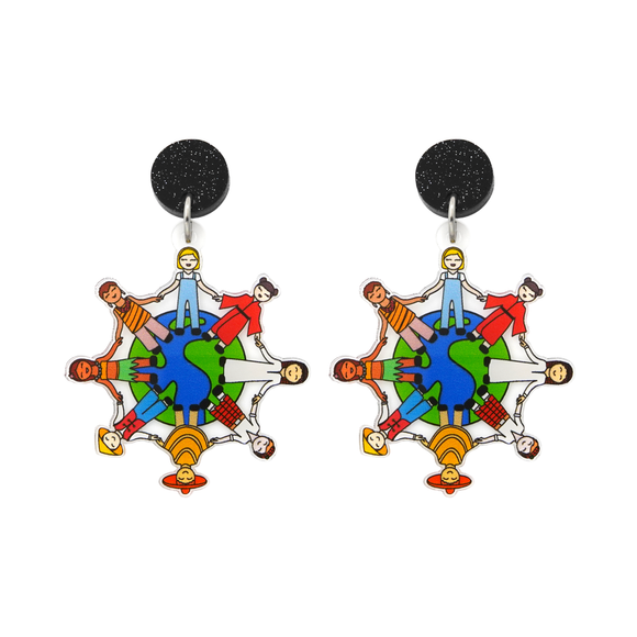 Harmony Day 'Round The World' Dangle Earring