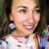Rainbow Warrior Blooming Delight Hoop Dangle Earring 'Colour 1' - Timber & Cotton + Natalie Jade