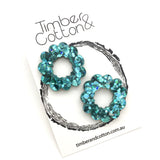 Zinnia Flower Hoop Statement Studs