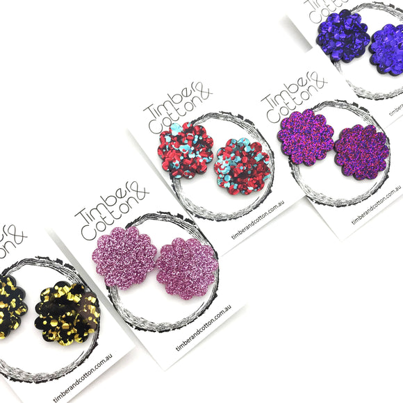 Zinnia Flower Statement Studs
