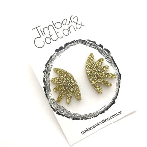 Cactus Flower Statement Studs