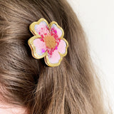 Cherry Blossom Hair Clip- Timber & Cotton