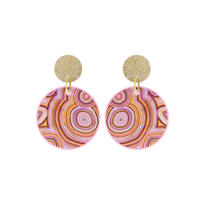 Rainbow Warrior Petite Circle Dangle Earring - Timber & Cotton + Natalie Jade