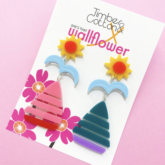 Oh Buoy Sail Boat Dangles- Collaboration with She's That Wallflower