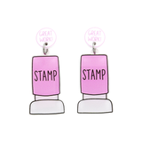 Stamp Dangle Earring - Timber & Cotton