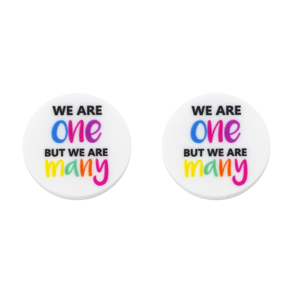 Harmony Day 'We Are One But We Are Many' Statement Stud Earring