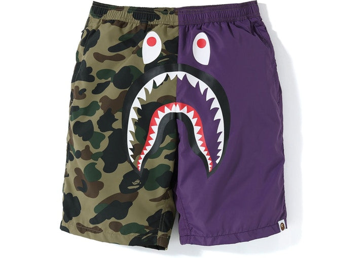 1st Camo Shark Beach Shorts