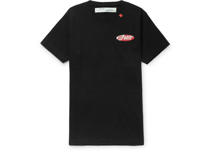 Slim Fit Split Logo Print T-Shirt