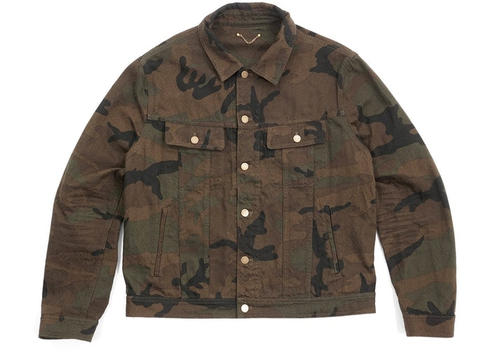 Supreme x Louis Vuitton Jacquard Denim Trucker Jacket Camo