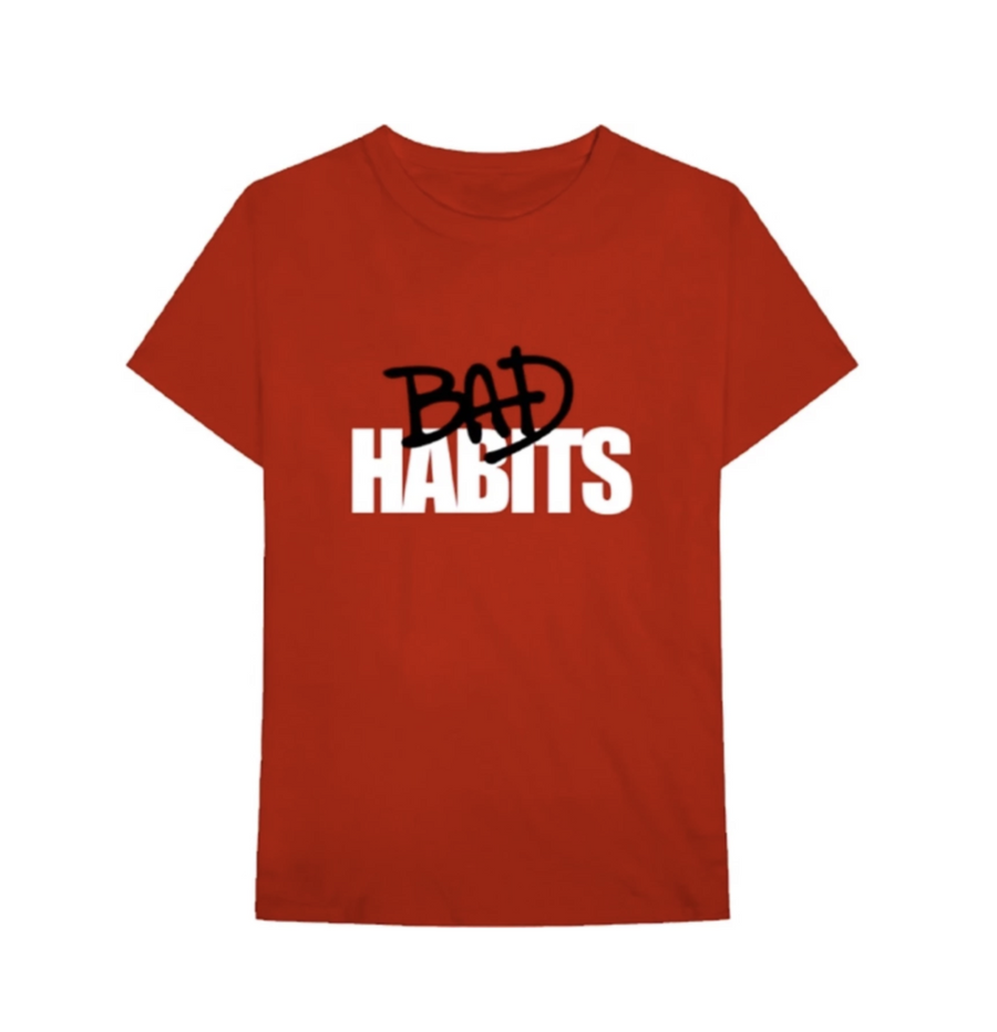 Bad Habits Tee Red