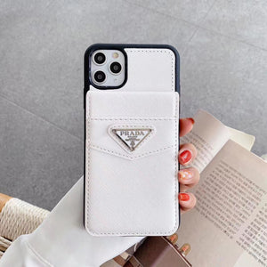 White PD Designers Case with Card Holder