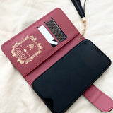 Black CC Designers Wallet with Card Holder